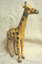 """Unique Handcrafted Leather Giraffe 12"""" Tall"""