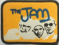 THE JAM Old OG Vtg 70/80`s Printed Patch Sew On Punk Cloth Badge Blue Logo