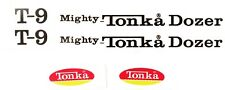 Replacement water slide decal set for Mighty Tonka T-9 dozer with ovals