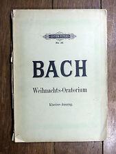 BACH Weihnachts-Oratorium - KlavierAuszug von Gustav Rösler - Éd. Peters