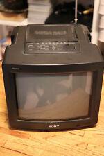 "Rare Sony Trinitron KV-10FMR20 10"" CRT Television TV w/ FM Radio Mega Bass Tele"