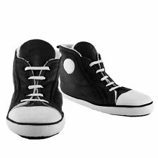 Slippers Men's retro Hi-Top trainer black soft comfy fabric (size 7 to 8.5)