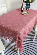 Chic Pretty Hand Crochet Cotton Table Cloth Bed Spread Cover L2