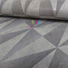 Erismann Triangle Pattern Wallpaper Stripe Motif Geometric Metallic Embossed