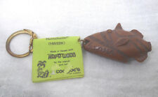 Vintage Coco Joe Hawaii Aloha Fish Keychain With Broken Tail Reef Triggerfish