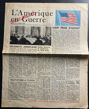 Original France Ww 2 Information Newspapers Leaflet Dropped 1943