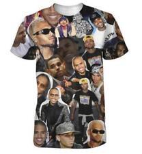 Chris Brown Short Sleeve S-5XL Casual Graphic Tee Funny 3D Print HIP HOP T-Shirt