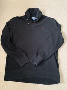 Ralph Lauren Mens Crawl Neck Sweatshirt Black Size L