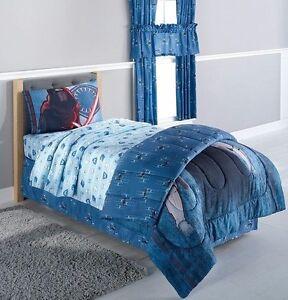 Disney Star Wars Force Awakens Microfiber Sheet Set Blue Twin Size Bed Sheets