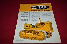 Allis Chalmers HD-16 Crawler Tractor Dealer Brochure YABE11 Ver48