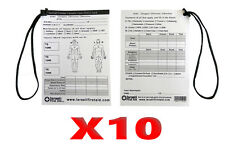 10X Tactical Combat Casualty Care Card Treatment Documentation Wound Medic IFAK