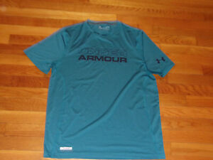 UNDER ARMOUR HEATGEAR SHORT SLEEVE FITTED JERSEY MENS LARGE EXCELLENT CONDITION