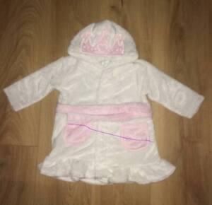 PERSONALISED BABY GIRLS PRINCESS CROWN DRESSING GOWN