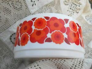 saladier à fleurs Arcopal lotus couleur orange, vintage esprit yéyé année 60