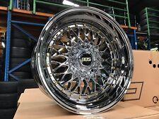 New 17 inch Chrome Classic BBS Wheel (set of 4) PCD 5x112 & 5x120  BMW Mercedes