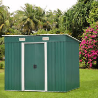 6' x 4' Outdoor Garden Storage Utility Shed Backyard Lawn Steel Tool House,Green