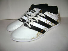adidas ACE 16.3 Primemesh Indoor Soccer Shoes size 11 White Black Gold AQ3422