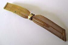 pince à cheveux bijou accessoire vintage couleur or nid d'abeilles signée 617