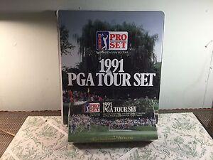 1991 PGA Tour Set Pro Set Collectible Cards In Original Box Sealedw/3 ring binde