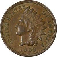 1909 1c Indian Head Cent Penny US Coin Borderline Uncirculated