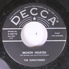 50'S Decca Nos 45 The Sunnysiders - Broken Hearted / The Lonesome Banjo On Decca