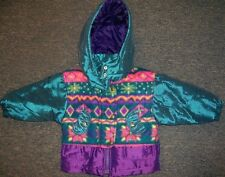 Winter Coat Hooded Purple Turquoise Paramount Girl size Small 4 New
