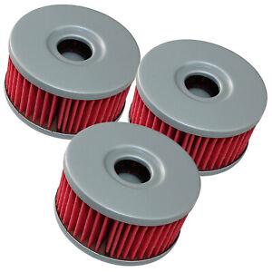 for Suzuki GZ250 1999 2000 2001 2002 2003 2004 2005 2006-2010 Oil Filter 3-Pack