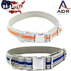 Reflective dog collar premium heavy duty waterproof zinc coated metal hardware