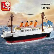 Sluban B0576 Movie Titanic Ship Britain Small Boat Building Block Assembled Toy