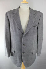 CARL GROSS PREMIUM WOOL/CASHMERE GREY TWEED JACKET 44 INCH