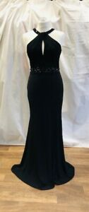 Ladies Jane Norman black evening gown in size UK10