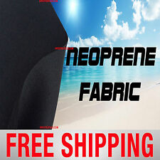 Neoprene Scuba Techno Athletic Double Knit Fabric. Black. Free Shipping!!