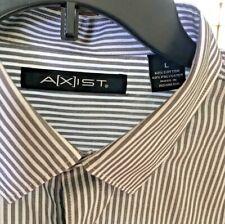 Axist Mens Gray/White   Striped Button Down Shirt Size L