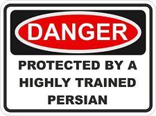 Cat breed persan danger autocollant animal pour pare-chocs casier porte voiture