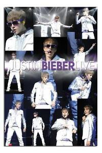 Justin Bieber Live Montage Groß Maxi Wand Poster Neu - Laminiert Erhältlich