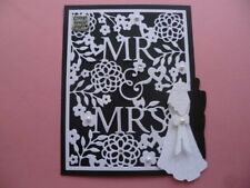 ELEGANT  'MR AND MRS'  WEDDING DAY CONGRATULATIONS 3D CARD TOPPER