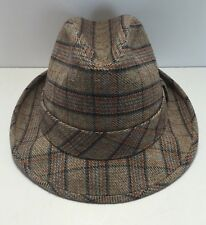 Vintage Resistol Self Conforming Plaid Fedora Hat Size 7 US Union Made