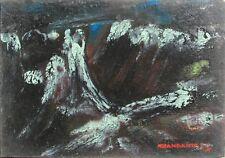 GIANDANTE X (Dante Pescò Milano 1899-1984) ALTE VETTE encausto cm35x50 anno 1965
