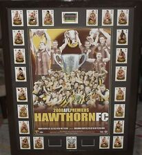 HAWTHORN 08 Premiership Tribute poster and Premiership select card set *Signed*