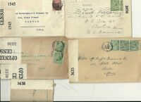 1917/19  5 x DIFF OPENED BY CENSOR COVERS TO BOSTON USA DURING WW1