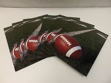 Lot of 6 Paper Folders, 2 Pocket, Football (23975) High Gloss Laminated Paper