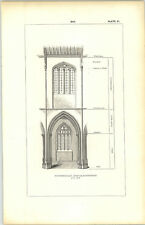 1850 Engraving Bay At Fotheringay Northants