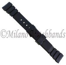 18mm Morellato TipoSeiko Black Premium Rubber Black Buckle Mens Band Reg 0199