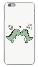 Dinosaur Cartoon Hug Me Love Gift Hard Cover Case For iPhone Huawei Galaxy New