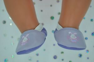 """Dolls Shoes For 17"""" Baby Born CUTE LILAC/PURPLE SHOES"""
