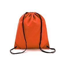 d238715becf9 School Drawstring Book Bag Sport Gym Swim PE Dance Shoe Backpack Premium  Quality Orange