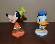"Goofy & Disney Donald Duck Bobble Head Figures- Kelloggs - 3"" tall 2005"