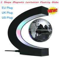 LED C shape World Map Light Decor Magnetic Levitation Floating Globe US/UK/EU