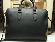 Authentic Burberry Leather and House Check Briefcase Bag $1995