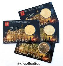 BU 50 Euro Cent 2010. VATICAN CITY COIN CARD N°1. Benoit XVI°